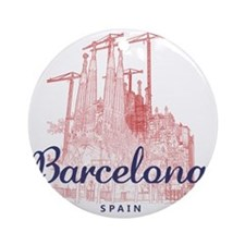 Barcelona_7x7_LaSagradaFamilia_Brow Round Ornament