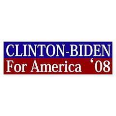 Clinton-Biden for America bumper sticker