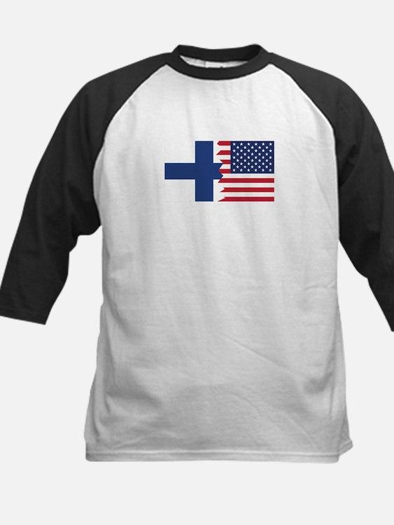Finnish American Flag Baseball Jersey
