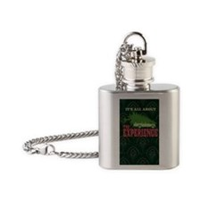The Experience book Flask Necklace