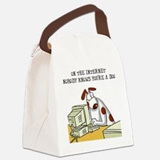 FIN-internet-nobody-knows-dog Canvas Lunch Bag