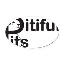 Pitiful Pits logo JPG Oval Car Magnet