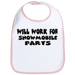 Will Work For Snowmobile Part Bib