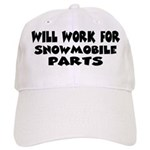 Will Work For Snowmobile Part Cap