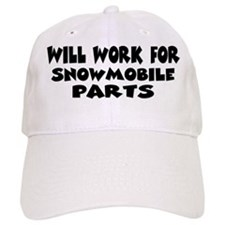 Will Work For Snowmobile Part Hat