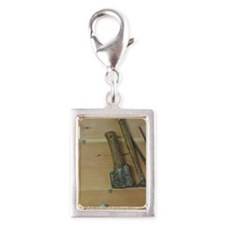 Tools for building tradition Silver Portrait Charm