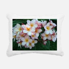 Pretty Pink Plumeria Flo Rectangular Canvas Pillow