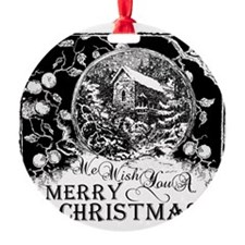 Merry Christmas snow globe Ornament