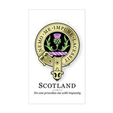Flower of Scotland Rectangle Decal