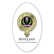Flower of Scotland Oval Decal