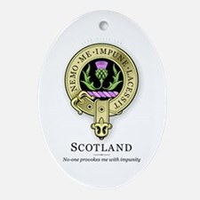 Flower of Scotland Oval Ornament