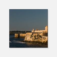 "Italy, Sicily, Syracuse, Or Square Sticker 3"" x 3"""