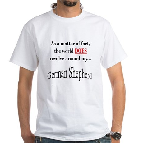 German Shepherd World White T-Shirt