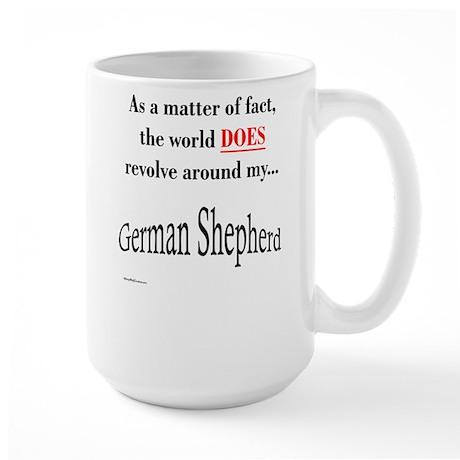 German Shepherd World Large Mug