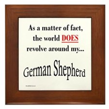 German Shepherd World Framed Tile
