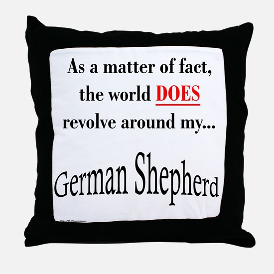 German Shepherd World Throw Pillow