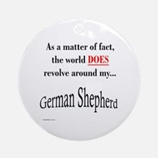 German Shepherd World Ornament (Round)