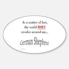 German Shepherd World Oval Decal