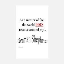 German Shepherd World Rectangle Decal