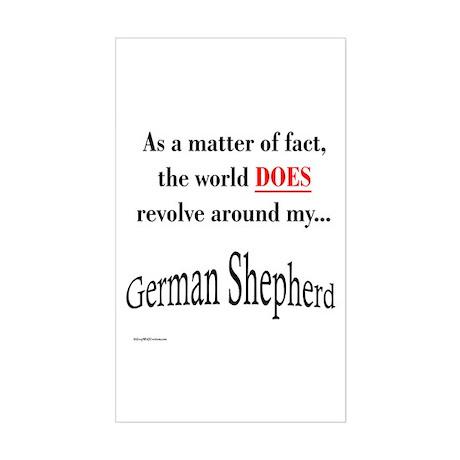 German Shepherd World Rectangle Sticker