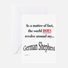 German Shepherd World Greeting Cards (Pk of 10