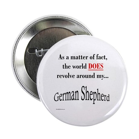 German Shepherd World Button