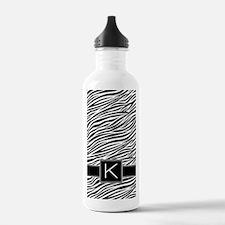 444_pattern_monogram_z Water Bottle