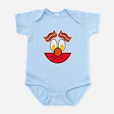 Funny Food Face Infant Bodysuit