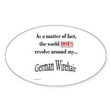 Wirehaired World Oval Decal