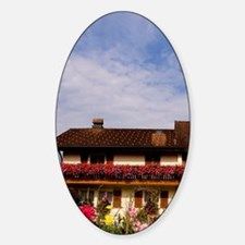 Local home with flowers in Balzers  Sticker (Oval)