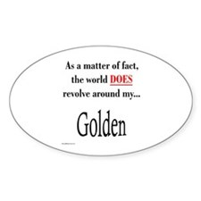 Golden World Oval Decal