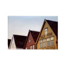 Historic Bryggen Rectangle Magnet