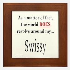 Swissy World Framed Tile