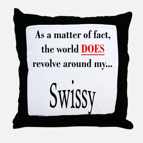 Swissy World Throw Pillow