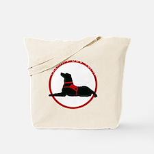 therapydogteamwhite Tote Bag