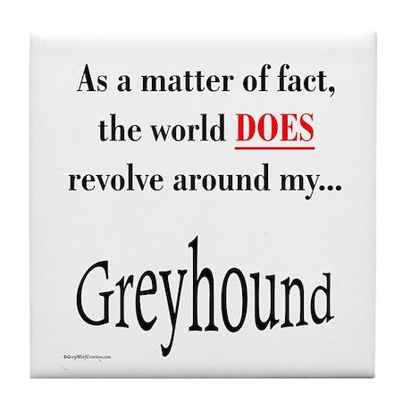 Greyhound World Tile Coaster