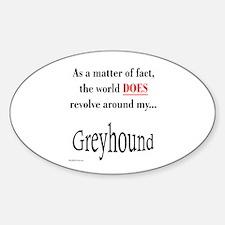 Greyhound World Oval Decal