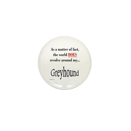 Greyhound World Mini Button