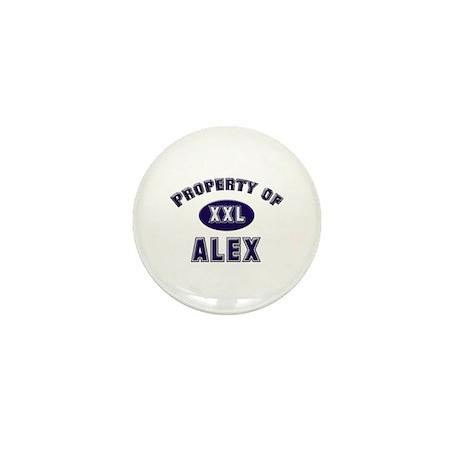 Property of alex Mini Button