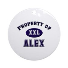 Property of alex Ornament (Round)