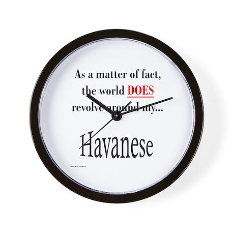 Havanese World Wall Clock
