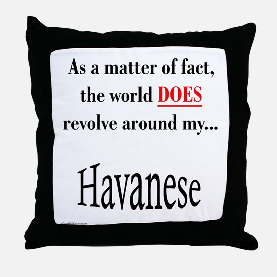 Havanese World Throw Pillow