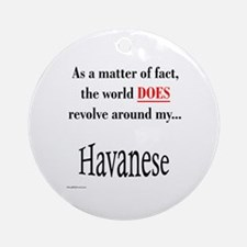 Havanese World Ornament (Round)