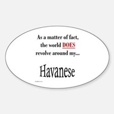 Havanese World Oval Decal