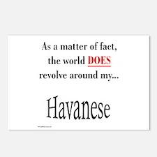 Havanese World Postcards (Package of 8)