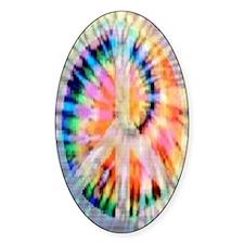 Tie Dye Peace Journal Decal