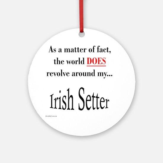 Irish Setter World Ornament (Round)