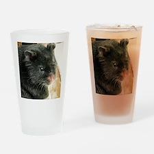 Black Hamster Drinking Glass
