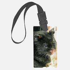 Black Hamster Luggage Tag