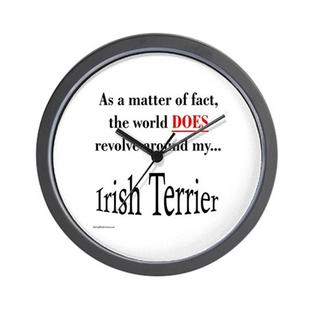 Irish Terrier World Wall Clock